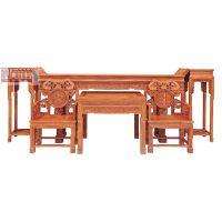 供应江苏徐州帝豪红木家具店 古典中式 灵芝中堂 花梨木供桌