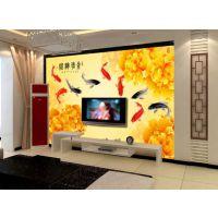 供应无缝绢丝布壁画 无缝宣绒布电视背景墙壁纸 大型壁画厂家直销