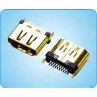 硕凌供应HDMI接插件母座夹板式机顶盒电视机主板用车载连接器