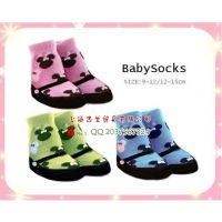 工厂直批原单品质女童米妮头像造型假鞋袜 女宝宝卡通防滑棉袜