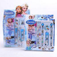 迪士尼DISNEY 冰雪奇缘FROZEN爱莎安娜 笔盒 圆珠笔 学生文具套装