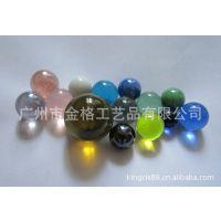 厂家专业生产海兰琥珀浅绿各色玻璃珠 16mm透明玻璃珠
