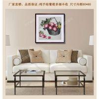 咸宁手绘国画,武汉名艺画框厂,手绘国画专业裱框