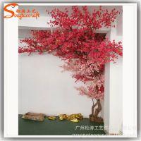 室内大型仿真樱花树婚庆装饰 西餐厅布景新年节日装扮厂家直销