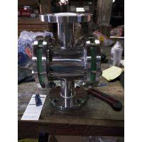 永视阀门 焊接管道视镜 316L化工直通视镜 不锈钢管道视镜