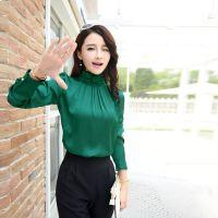 正品2015春装新款长袖韩版时尚宽松长袖雪纺衫女