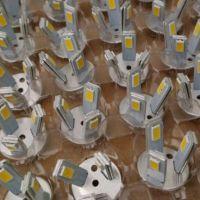 led 蜡烛泡 吊灯水晶灯 3W 正白 暖白 光 三叉 光源 芯片 5730