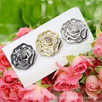 玫瑰 流行时尚 服装辅料配件 皮草高级金属纽扣 镶钻扣 水钻扣子