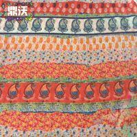 厂家直销 女装涤纶雪纺印花布 民族风雪纺印花布