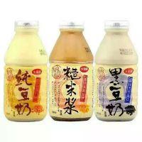 台湾进口乡田真 纯豆奶 糙米桨 黑豆奶330g 24瓶/箱