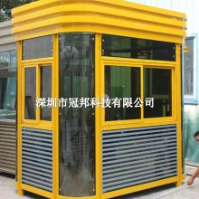 钢结构岗亭 槽钢保安亭 方形钢结构岗亭 艺术槽钢柱车辆收费亭 门卫亭