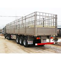 超轻型13米钢铝合金仓栅半挂车 自重4.8吨 承载50吨 单胎铝合金钢圈 凯迪捷牌平板式牵引挂车