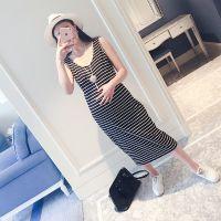 大码孕妇装大码2016新款韩版夏装背心连衣裙长款 孕妇裙