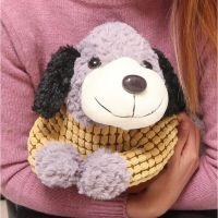 超萌穿毛衣小狗可拆洗双插手热水袋/电暖袋 电热水袋 新款暖宝宝