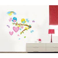 厂家定制 可加LOGO花卉型壁画防污PVC墙贴贴纸 可移除