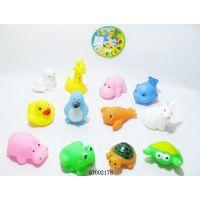 厂家直销小鸭搪胶动物玩具 环保搪塑BB鸭 出口洗澡玩具 搪胶公仔