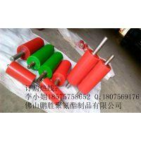 供应优质 铝型材贴膜机聚氨酯包胶高耐磨滚轮 主动轮 被动轮