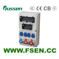 富森供应配电箱组合插座箱 工业防水插头插座箱 户外PC阻燃强电布线箱