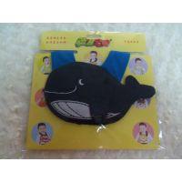 供应广东动漫宝贝卡通婴儿口水巾 围嘴 琼鱼 独立包装 厂家批发