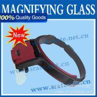 Helmet Magnifier 带LED灯头盔 头戴放大镜 MG81001-B 工厂维修用