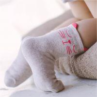 caramella可爱卡通萌猫咪中筒袜手工对目日系女士袜子女纯棉批发