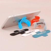 定制印刷LOGO Touch-U硅胶手机啪啪圈支架 拍拍U型手机支架
