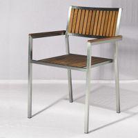 户外不锈钢+木椅,厂家供应定做休闲椅子 佛山顺德家具