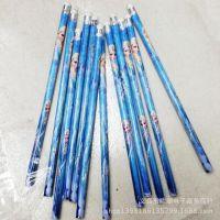 外贸原单 冰雪奇缘优质木头铅笔 儿童学期用品 正版迪士尼