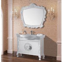 佛山浴室柜 白色现代仿古浴室柜 落地实木柜 橡木柜 J017