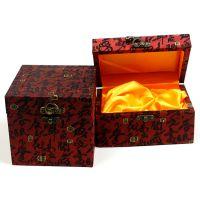 万汇 高档收藏品盒子摆件盒珍藏品盒木质丝布复古礼品盒子古董盒