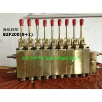 厂家直销煤矿综机液压支架用阀操纵阀组BZF200(7+ 1)