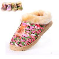 冬季棉拖鞋批发动物图案加绒加厚款包跟居家拖鞋厚底棉鞋工厂批发