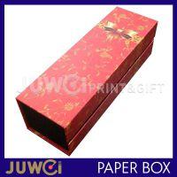 巨薇纸盒 厂家定做单支红酒礼盒 长方形鲜花包装盒 淘宝天猫包装