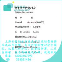 工业铝型材批发生产厂家直销WY-8-4040A-1.3铝型材