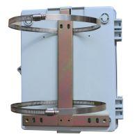 电线杆抱箍圈抱杆二槽位116室外不锈钢132喉箍分纤箱壁挂四槽位