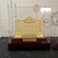 绒沙金复古中式如意算盘沙金摆件家居装饰金属工艺品高档礼盒包装商务礼品招财