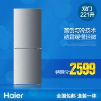 Haier/海尔 BCD-221TMBA/221升/两门家用电冰箱/双门节能送装同步