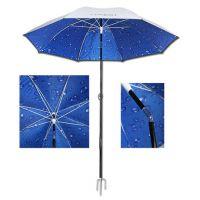 批发连球2.1米PPC二节单转纤维伞 遮阳伞 钓鱼伞