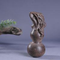 工厂一手货源批发 天然越南芽庄沉香木雕刻葫芦手把件