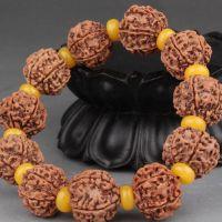 尼泊尔六瓣金刚菩提子 天然原籽 1.6-2.0cm蜜蜡手串 佛珠手串批发