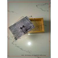 多功能相片工艺木盒 玻璃木盒 玻璃盖木盒 高档透明玻璃盖木盒