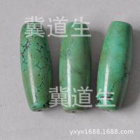 批发绿松石散珠 隔珠 圆珠 老湖北西藏绿松石散珠 绿松石天珠