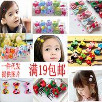 工厂韩国版儿童发头饰品 发绳发箍波点系列迷你小对夹 手工批发
