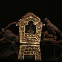 西藏饰品尼泊尔手工纯铜做旧透明嘎乌盒擦擦项链佛像吊坠挂件
