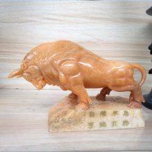 石雕牛小件晚霞红石雕孺子牛工艺品雕塑大型石牛雕塑定做