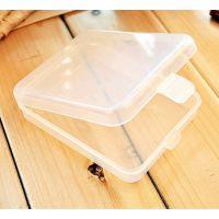 化妆粉扑盒 首饰盒睫毛饰品透明简约方形装小东西收纳盒塑料盒子