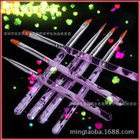 高档美甲光疗笔 彩绘笔套装 指甲美甲排笔 美甲笔套装7支装