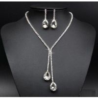 水晶项链   速卖通爆款  套装项链  简约款套装项链