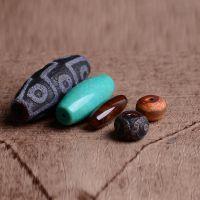 DIY佛珠配件 西藏九眼玛瑙天珠 天然老玛瑙米珠 蚕丝玛瑙隔珠