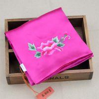 桑蚕丝双层真丝手帕 纯手工刺绣绣花 中国风特色礼品